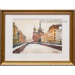 "Картина акварелью ""Санкт-Петербург. Спас на Крови"" Заруцкий"