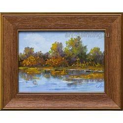 "Картина маслом ""Река. Осень"" Селенских"