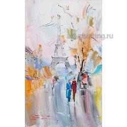 """Картина маслом """"Осень в Париже"""" Сухоплюев"""