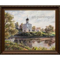 """Картина маслом """"Церковь покрова на Нерли"""" Артемис"""