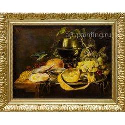 "Картина маслом ""Натюрморт с лимонами"" Парамонова"