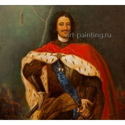 "Картина маслом ""Портрет Петра I"" Якубалиев"