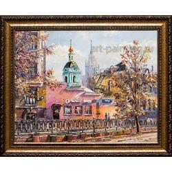 """Картина маслом """"Москва. Яузский бульвар"""" Артемис"""