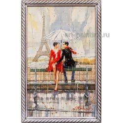 """Картина маслом """"Париж. Свидание"""" Юмадилов"""