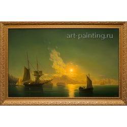 """Картина маслом """"Неаполитанский залив"""" Вечерский"""