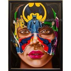 "Картина маслом ""Face of batman"" Tanongchat"