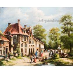 """Картина маслом """"Лето в голландской деревне"""" Новицкий"""