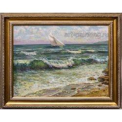 """Картина маслом """"Море"""" Галатов"""
