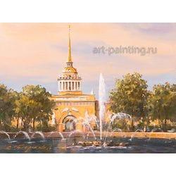 """Картина маслом """"Адмиралтейство"""" Бирюков"""