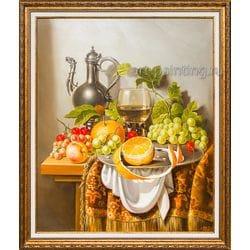 """Картина маслом """"Натюрморт с восточным кувшином""""  Дельцов"""