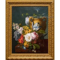 "Картина маслом ""Натюрморт с цветами""  Абдулаев Джахон"