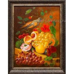 """Картина маслом """"Натюрморт с птицей""""  Леснов"""
