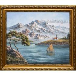 """Картина маслом """"Горный пейзаж""""  Гафиатуллин"""