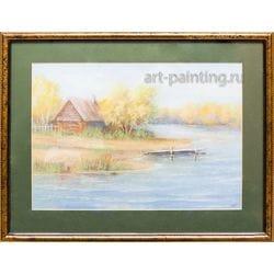 """Картина пастелью """"Осень в Шамарах""""  Селенских"""